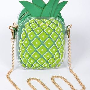 Green Pineapple Clutch Bag